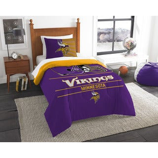 NFL 862 Vikings Draft 2-piece Twin Comforter Set
