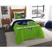 The Northwest Company NFL Seattle Seahawks Draft Green, Blue, and White Twin 2-piece Comforter Set