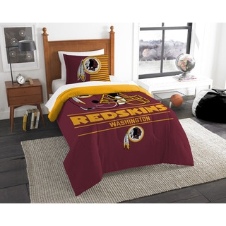 The Northwest Company NFL Washington Redskins Draft Twin 2-piece Comforter Set