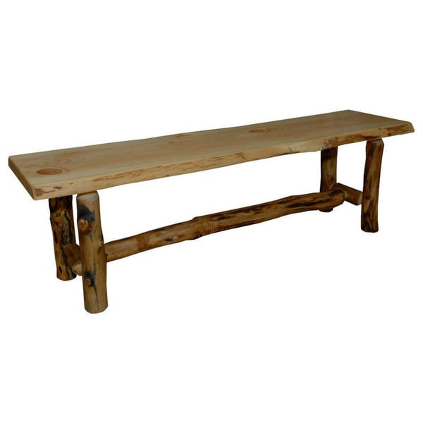 Rustic Aspen Log Dining Bench
