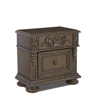 Klaussner Furniture Versailles Brown Wood 1-drawer Nightstand