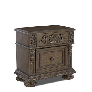 Made to Order Klaussner Furniture Versailles Brown Wood 1-drawer Nightstand
