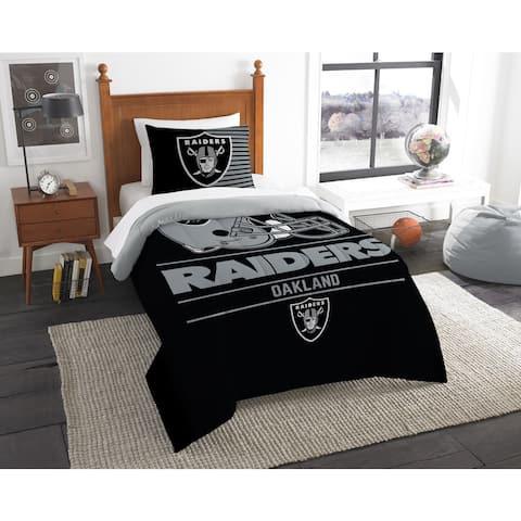 The Northwest Company NFL Oakland Raiders Draft Twin 2-piece Comforter Set