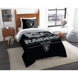The Northwest Company NFL Oakland Raiders Draft Twin 2-piece Comforter Set