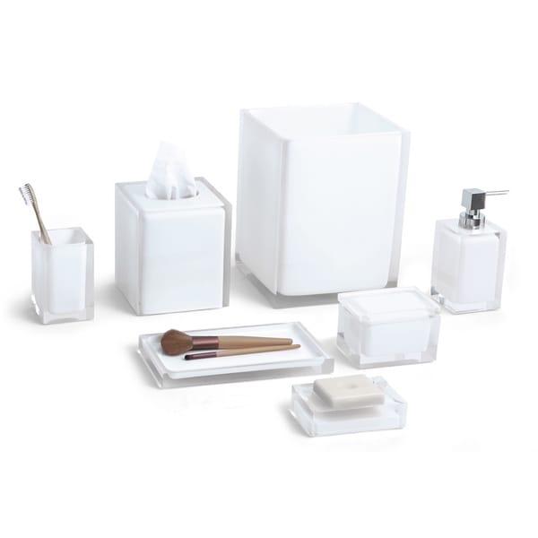 Cubix White 7-Piece Bath Accessory Set
