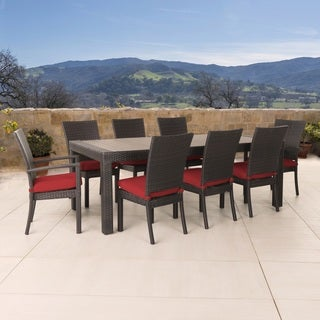 Deco 9pc Dining Set in Sunset Red by RST Brands