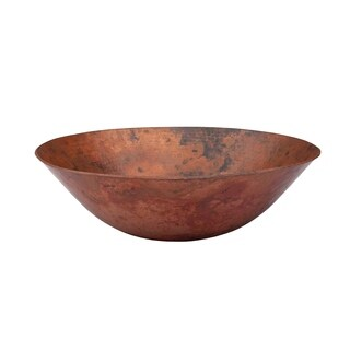 Novatto Catalonia Copper Vessel Sink and Oil Rubbed Bronze Strainer Drain