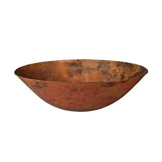 Novatto Bilboa Copper Vessel Sink and Oil Rubbed Bronze Strainer Drain