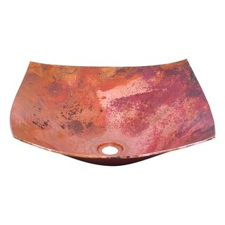 Novatto Malaga Copper Vessel Sink and Oil Rubbed Bronze Strainer Drain