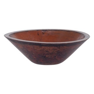 Novatto Montevideo Copper Vessel Sink and Oil Rubbed Bronze Strainer Drain