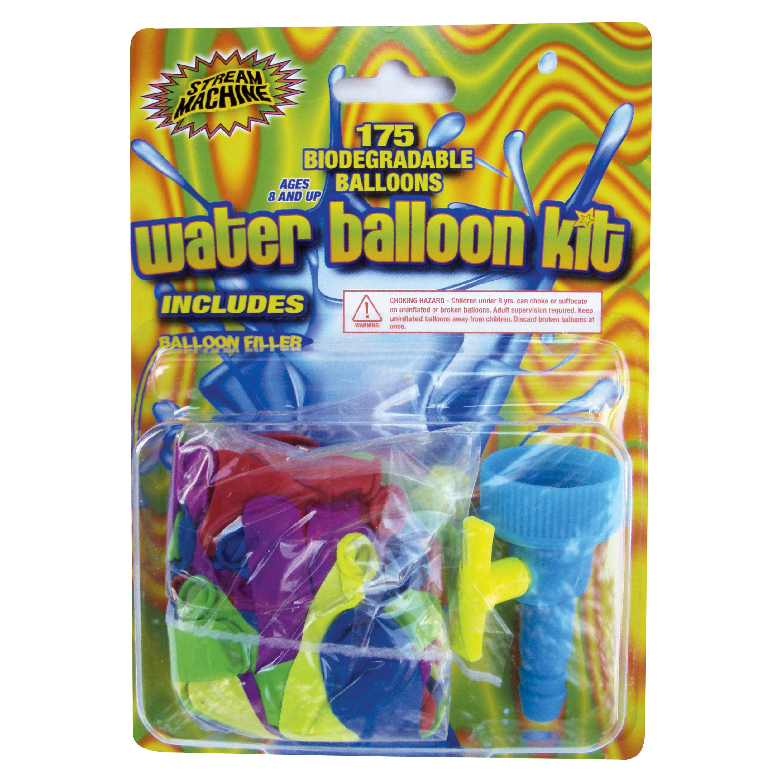 WaterSports Water Balloon Kit with 175 Balloons (1), Mult...