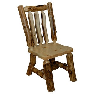 Rustic Aspen Log Side Chairs (Set of 2)