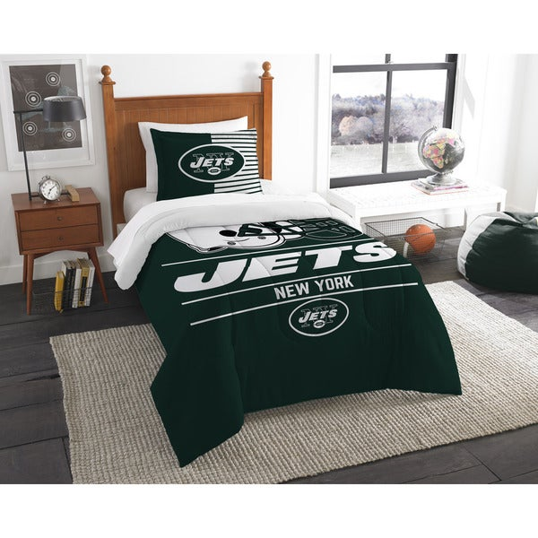 The Northwest Company NFL New York Jets Draft Multicolor Twin 2-piece Comforter Set