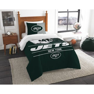 The Northwest Company NFL New York Jets Draft Multicolor Twin 2-piece Comforter Set - Multi