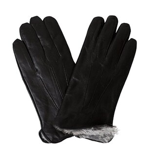 100 Love Men's Bon Banito Black Genuine Soft Leather Gloves (5 options available)