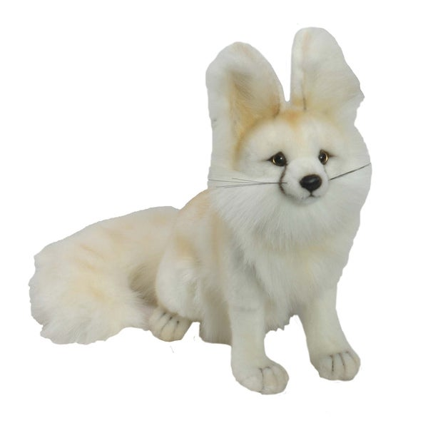 Hansa Seated Arctic Fox Plush Toy