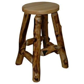 Rustic Aspen Log Bar Stool