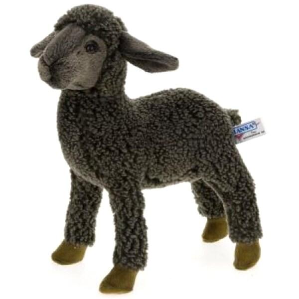 Hansa Black Kid Sheep Plush Toy