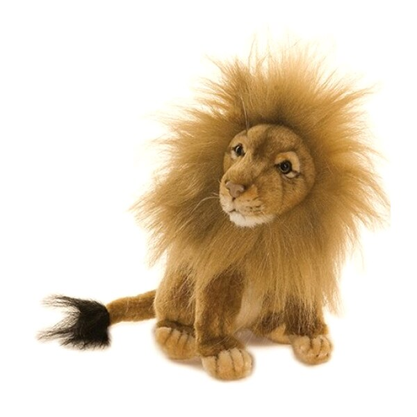 Hansa Seated Lion Plush Toy