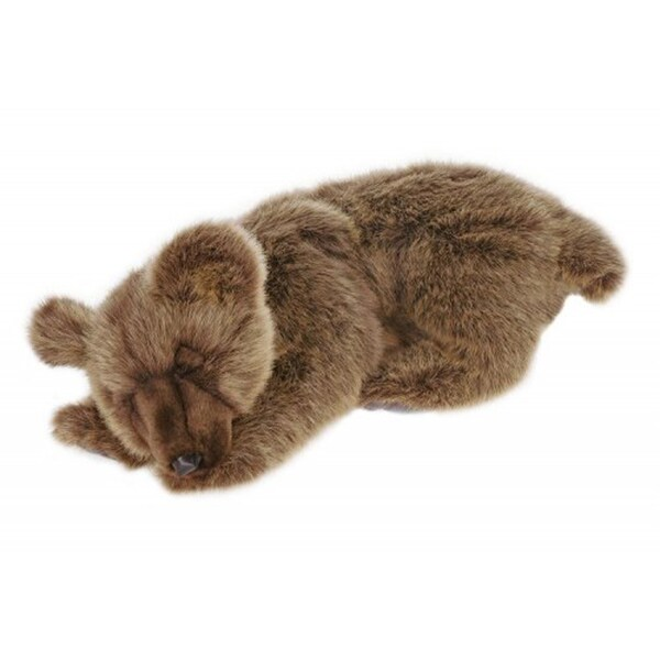 Hansa Sleeping Brown Bear Plush Toy