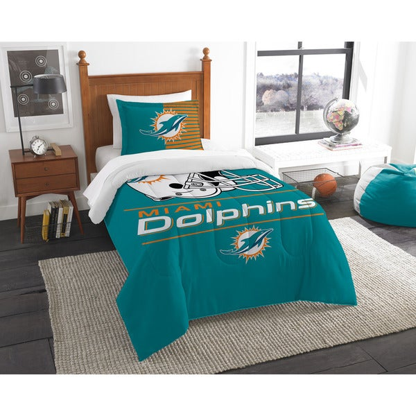 get cheap e5daf 10f75 The Northwest Company NFL Miami Dolphins Draft Twin 2-piece Comforter Set