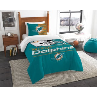 The Northwest Company NFL Miami Dolphins Draft Twin 2-piece Comforter Set