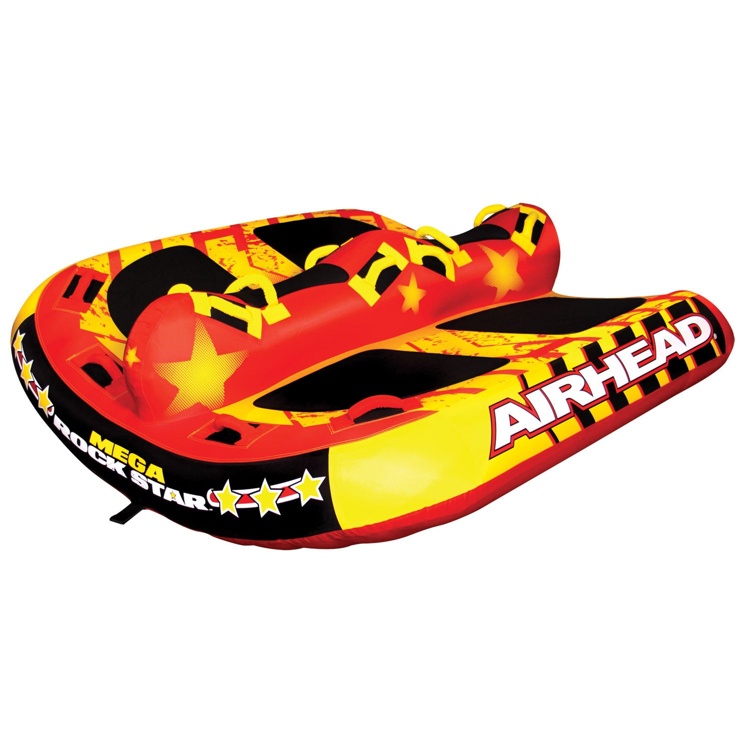 Airhead Mega Rock Star Multicolor PVC Inflatable Water Tu...