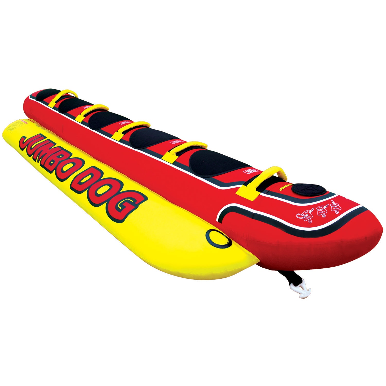 Airhead Multicolored PVC Inflatable Jumbo Dog Water Tube ...
