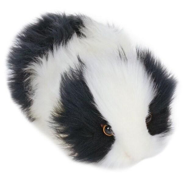 Hansa Black and White Guinea Pig Plush Toy