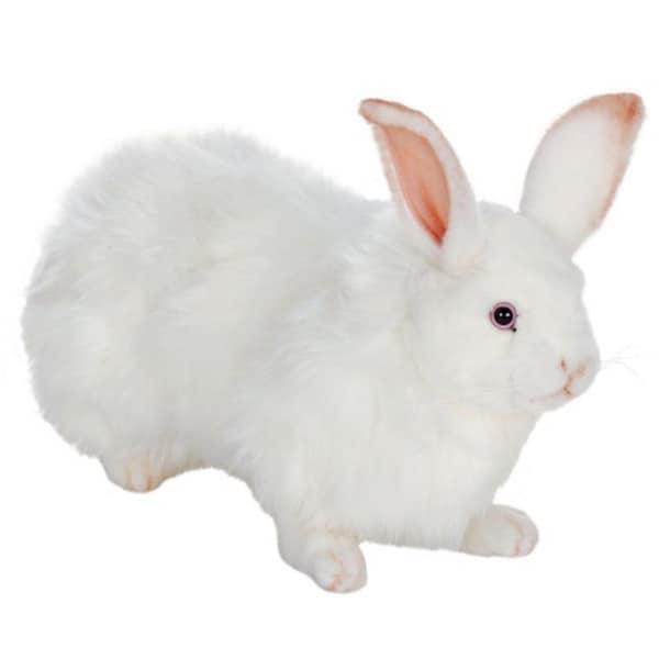 Hansa Snow Rabbit Plush Toy