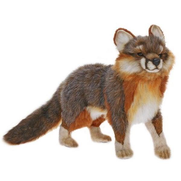 Hansa Gray Fox Plush Toy