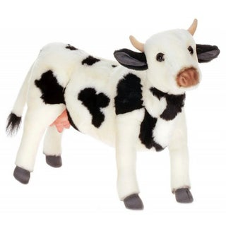 Hansa Black and White Cow Plush Toy