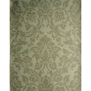 Brewster Isis Taupe Paisley Damask Wallpaper