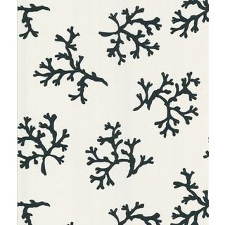 Brewster Marin Black and White Coral Nonwoven Wallpaper