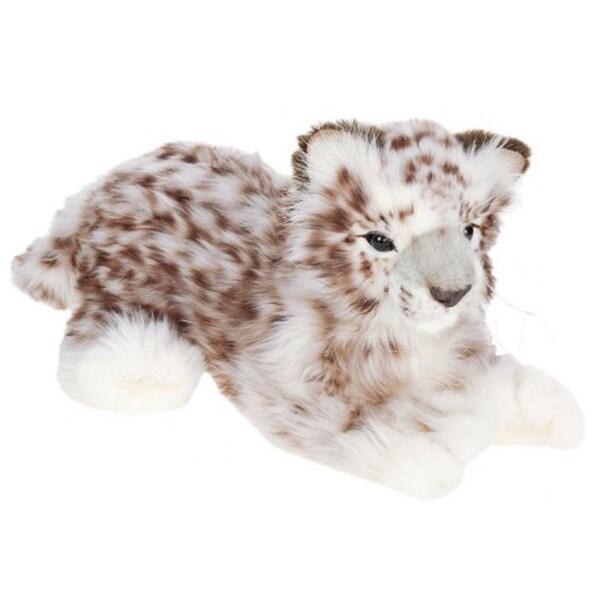 Hansa Laying Snow Leopard Plush Toy