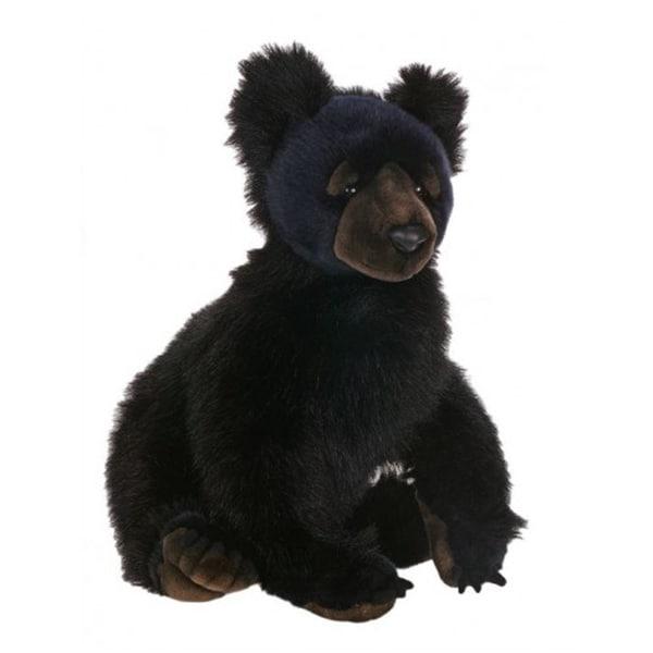 Hansa Black Bear Cub Plush Toy
