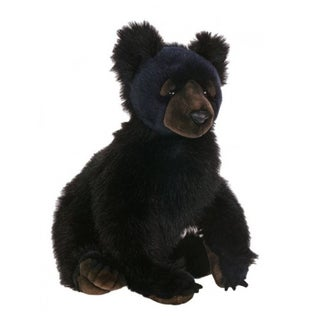 Hansa Black Bear Cub Plush Toy