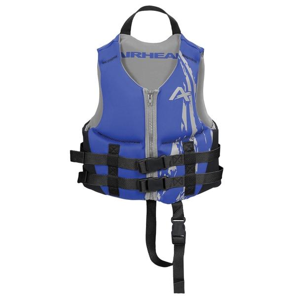 Airhead Children's Swoosh Blue Kwik-Dry Neolite Flex Vest