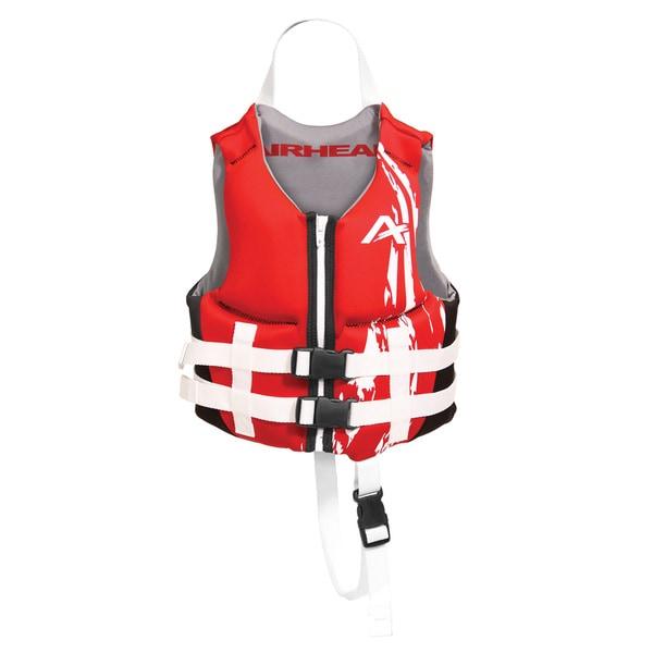 Airhead Children's Swoosh Red Kwik-Dry Neolite Flex Vest