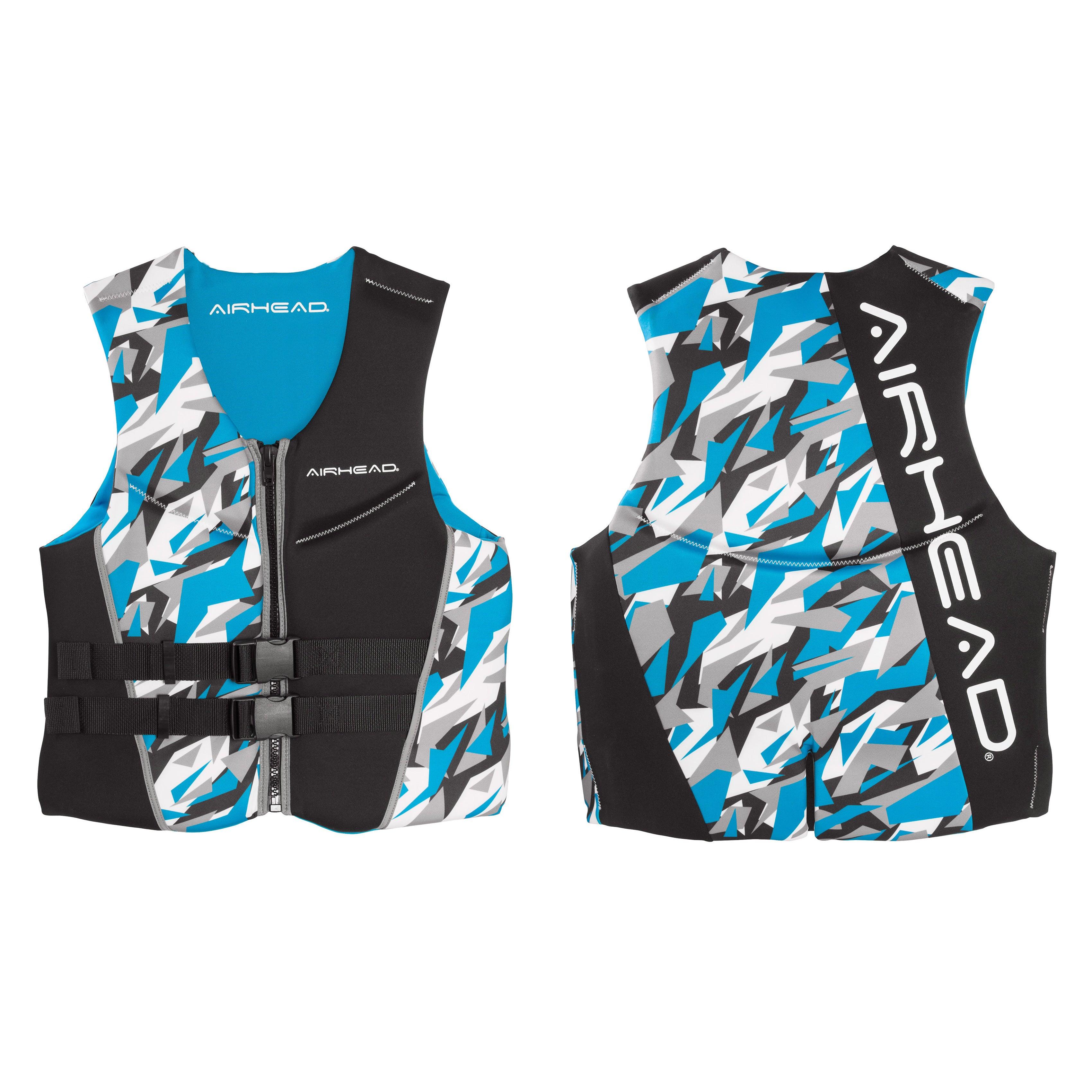 Airhead Men's 'Camo Cool' Blue Neoprene Kwik-dry Neolite Vest (CAMO COOL Men's Kwik-Dry Neolite Vest, Blue, 2XL) thumbnail