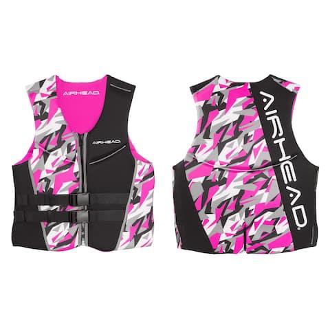 Airhead Women's Camo Cool Pink Kwik-Dry Neolite Vest