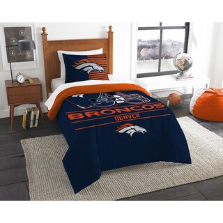 The Northwest Company NFL Denver Broncos Draft Multicolored Twin 2-piece Comforter Set