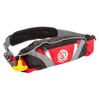 Airhead Inflatable Red Polyester Belt Pack Personal Floatation Device