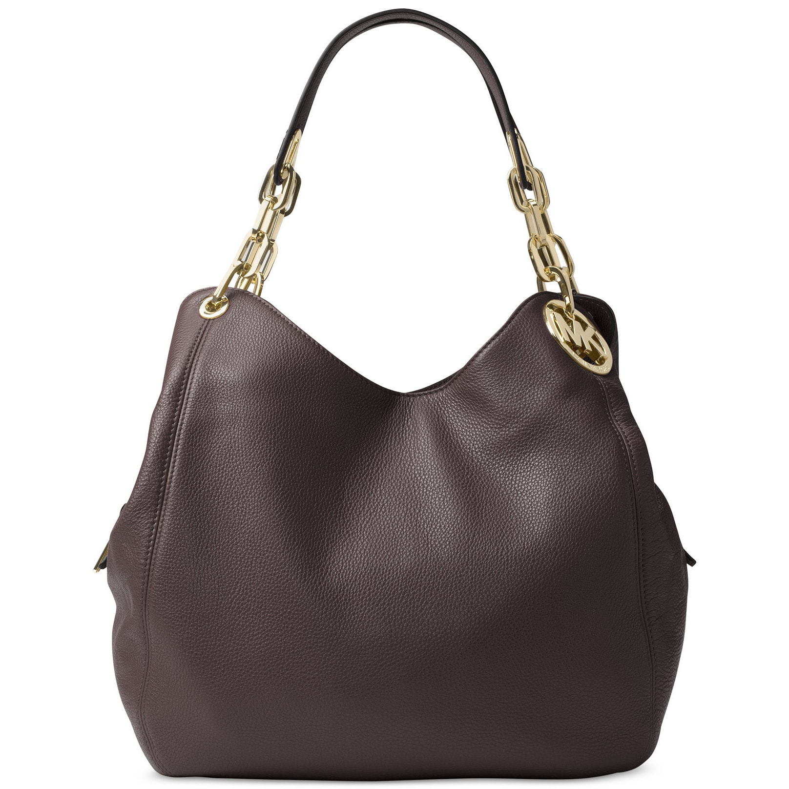 2c2e5b0db19f Shop Michael Kors Fulton Coffee Leather Large Shoulder Tote Bag - Free  Shipping Today - Overstock - 13330504