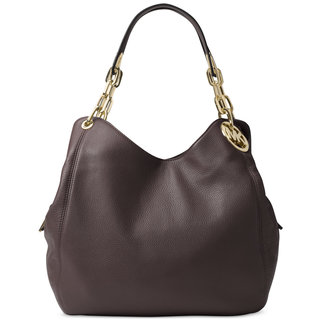 Michael Kors Fulton Coffee Leather Large Shoulder Tote Bag