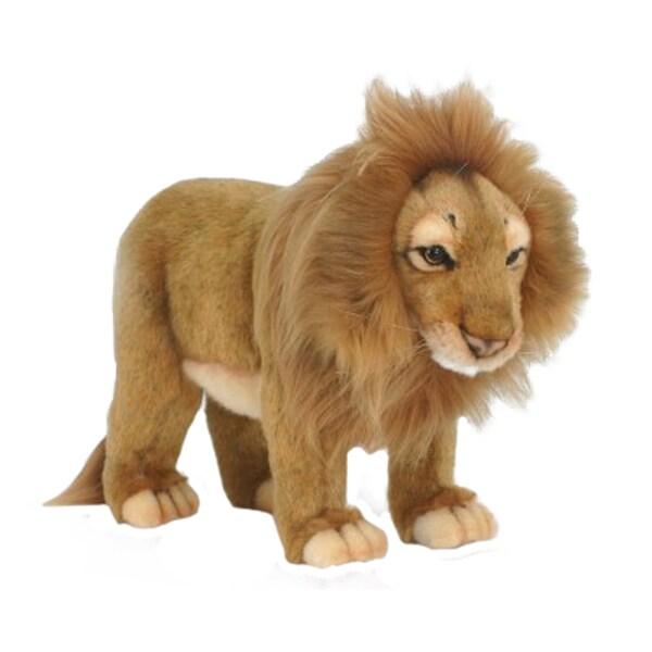 Hansa Standing Male Lion Plush Toy