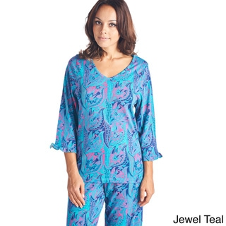 BHPJ by Bedhead Cotton 3/4 Sleeve V-neck Pajama Set