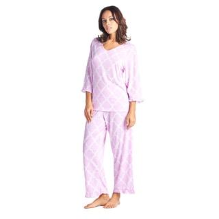 BHPJ by Bedhead Cotton 3/4 Sleeve V-neck Pajama Set