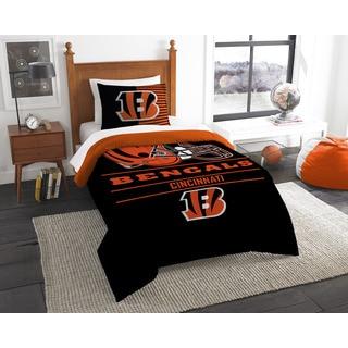 The Northwest Co. NFL Cincinnati Bengals Draft Black/Orange Twin 2-piece Comforter Set