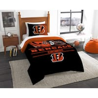 The Northwest Company NFL Cincinnati Bengals Draft Black/Orange Twin 2-piece Comforter Set